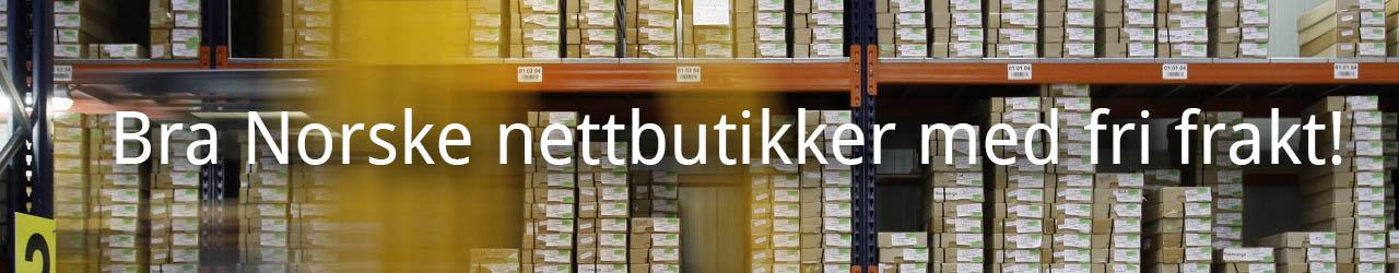 Norske nettbutikker med fri, gratis frakt!