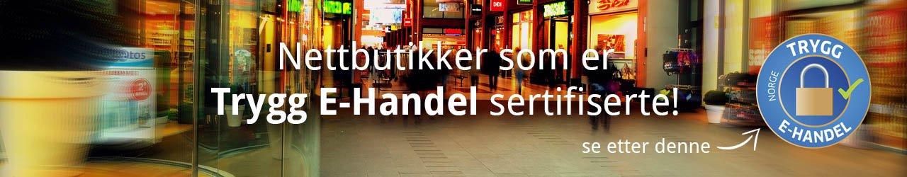 Norske nettbutikker som er Trygg E-Handel sertifiserte!