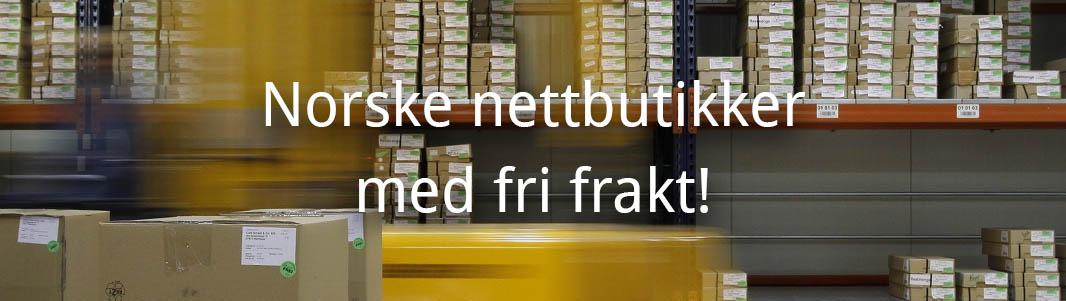 e9f5788b Norske nettbutikker med fri, gratis frakt! (2019)