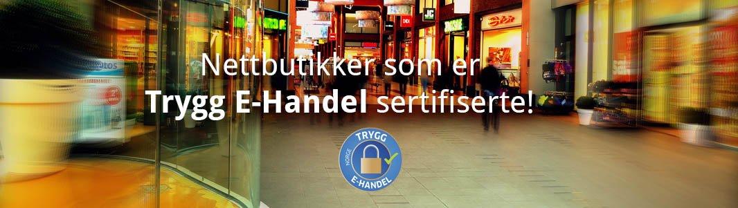 75268856 Norske nettbutikker som er Trygg E-Handel sertifiserte!