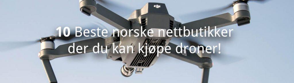 nettbutikker der du kan kjøpe droner