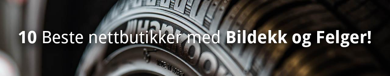 10 Beste nettbutikker med Bildekk og Felger!