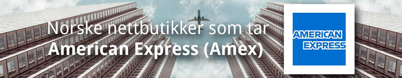 Norske nettbutikker som tar American Express Amex
