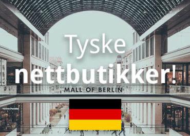 Tyske nettbutikker som shipper til Norge! (2019)