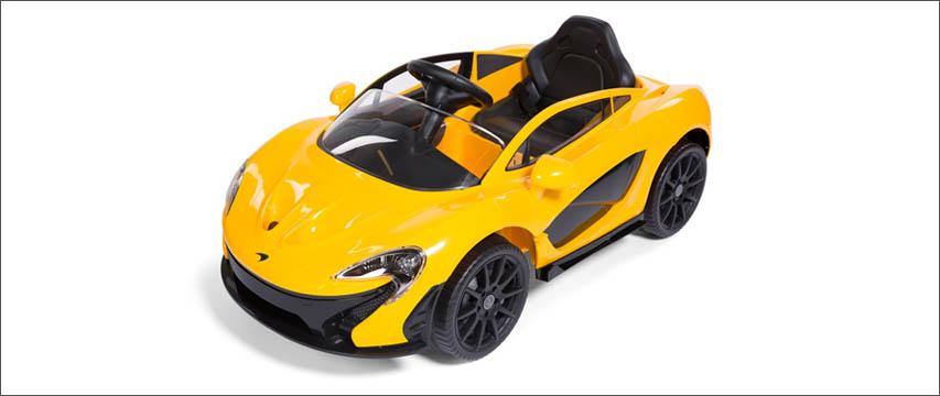 Gul McLaren P1 Elbil