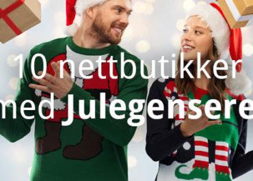 10 Nettbutikker med Julegensere! (2019)
