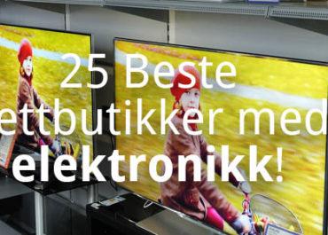25 Beste nettbutikker med elektronikk! (2019)
