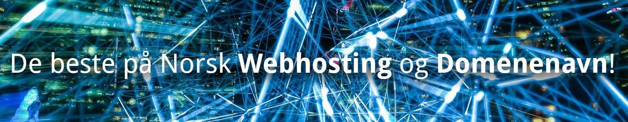 Beste på norsk webhosting og domener