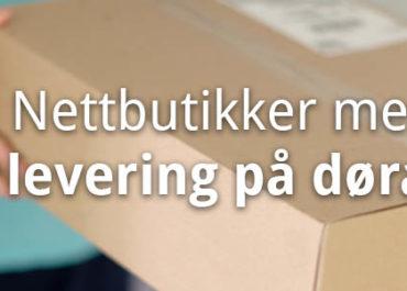 Alle nettbutikker med hjemlevering. Netthandel levert på døren! (2020)