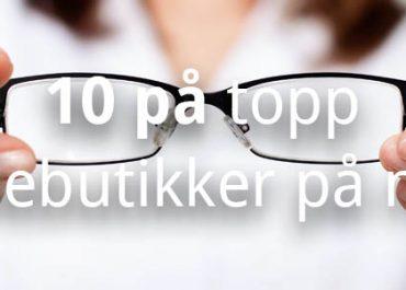 10 beste brillebutikker på internett! (2020)