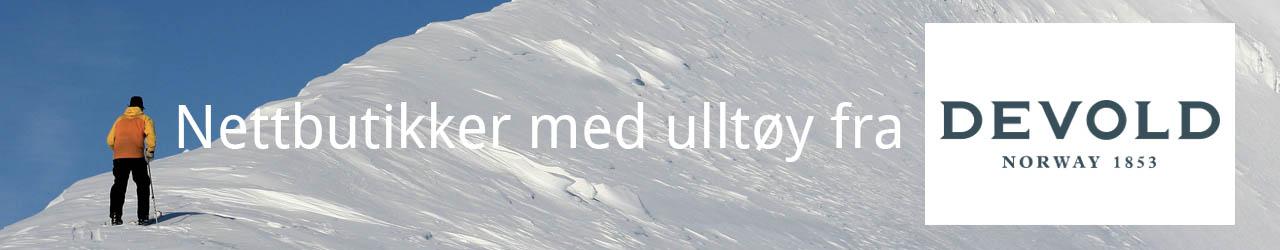 Nettbutikker med Devold ulltøy og ullundertøy!