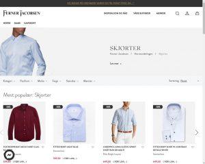Ferner Jacobsens herreavdeling, kategori skjorter