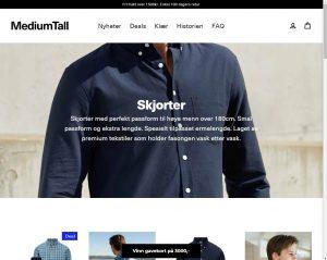MedimTall skjorter - for deg som er høyere en gjennomsnittet