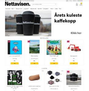 Forsiden til Nettavisens offisielle nettbutikk
