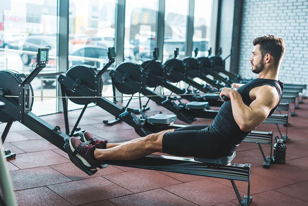 Romaskin på treningssenter